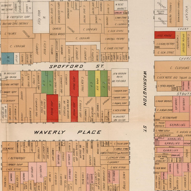 """Official map of 'Chinatown' in San Francisco"" (1885)"