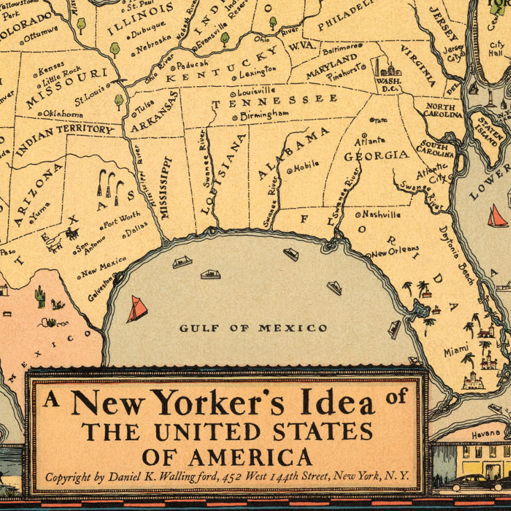 "Daniel K. Wallingford, ""A New Yorker's Idea of the United States of America"" (1939)"